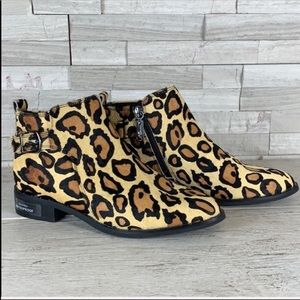 Blondo NWT Waterproof Tami Calf Hair Leopard Boots
